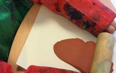 Naturinspirerad konst, förskolan Ekgården i Sätra